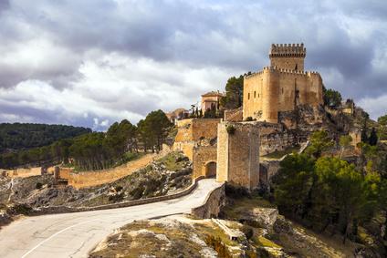 impressive medieval castle Alarcon, Spain