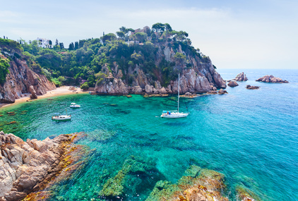 Seascape . Mediterranean coast of Spain, Costa Brava